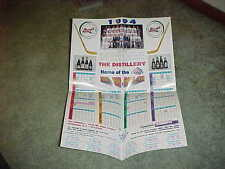 1993-94 Rochester Americans AHL Fold Out Team Hockey Photo Calendar Poster