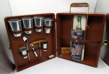 New ListingVtg 1970s Royalshire Trav-L-Bar Complete Briefcase Portable Bar Set in Hard Case
