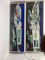 Lot Of 2  Hess Toy Truck and Racers 1997 And 2003