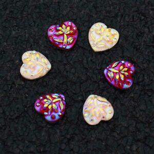80pcs 10mm AB Colour Flatback Resin Heart Appliques/Clothes/Craft Wedding Diy