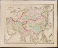 Carte ancienne (1857) de l'Asie, de Colton. Antique Map of Asia