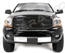 06-09 Dodge RAM Front Hood Gloss Black Big Horn Replacement Grille+Black Shell