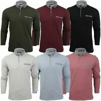 Mens Long Sleeve Polo Shirt by Brave Soul