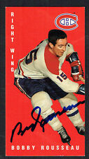 Bobby Rousseau #84 signed autograph auto 1994 Parkhurst Tall Boy Hockey Card