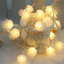 Pine Cone Light String Warm White Yellow LED Lamp Home Christmas Tree Decoration