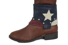 Women Wide Strap Boot Bracelet Shoe Charm Western Jewelry Texas Star USA Flag