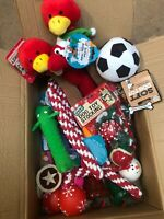 10 X BARGAIN CHRISTMAS XMAS BUNDLE TOYS  TREATS PET PUPPY DOG DOGGY CHEW TOY