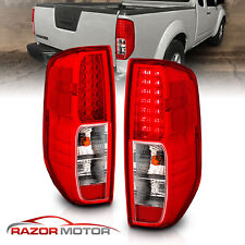 For 2005 2017 Nissan Frontier Red Clear Led Rear Brake Tail Lights Lamps Pair Fits 2011 Nissan Frontier