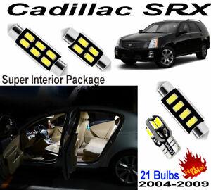 21pcs Super White LED Interior Light Kit Package For Cadillac SRX 2004-2009