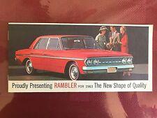 1963 AMC Rambler small booklet Original automobile advertising