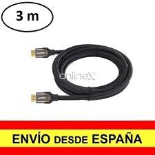 Cable HDMI Macho 4k 3D Nylon Trenzado V2.0 Alta Velocidad 3 Metros a2828