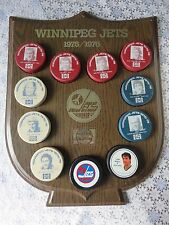 1975 /1976 Winnipeg Jets Hockey Puck Display Board By Pepsi And Pucks, No Tax