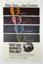 WHAT EVER HAPPENED TO BABY JANE - 1962 ORIGINAL MOVIE POSTER - DAVIS - CRAWFORD