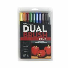 TOMBOW ABT Dual Brush Pens Art Markers, Primary Palette, #56167