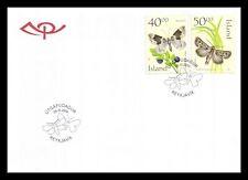Iceland 2000 FDC, Butterflies, Lot # 3.