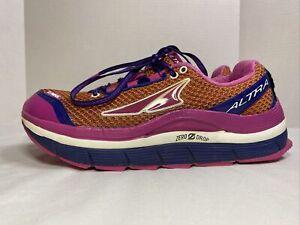 ALTRA Women's Zero Drop Olympus Trail Running Shoes Orange/Pink Size 9 A2355-1