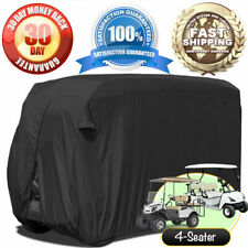"""Golf Cart Cover Fits (106"""" x 48"""" x 62"""") Storage Cover 4 Seater Passenger - Black"""