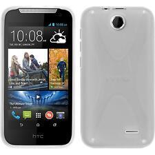 Coque en Silicone HTC Desire 310 - X-Style transparent + films de protection