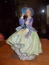 Royal Doulton Top O Of The Hill Figurine Green HN1833 Bone China Lady Figure