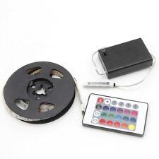 4.5v 50-200cm 5050 RGB Waterproof LED Flexible Strip Light Battery Powered Party 100m
