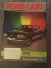 Ford Cars March 1982 UK Market Brochure Fiesta Escort Cortina Capri Granada