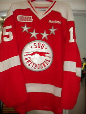 2012-2013 OHL CHL SOO GREYHOUNDS CHRIS BUONOMO GAME WORN HOCKEY JERSEY LOA