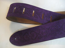 UNIQUE LEATHER PURPLE SUEDE GUITAR/BASS STRAP
