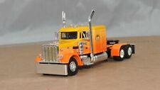 "Dcp yellow/orange Peterbilt 359 60""flattop tractor new no box"