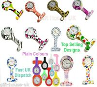 Nurse Watch Patterned Silicone Nurse Brooch Tunic Fob Watch With FREE BATTERY