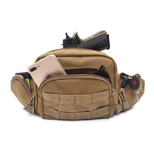 Tactical Ultimate Fanny Pack Holster Concealed Carry Pistol Pouch Waist Bag