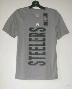 New NFL Pittsburgh Steelers Official T-Shirt Gray Large 14/16 Kids Youth Top-42
