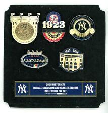 Yankees 2008 MLB All-Star Game 5 Pin Set New York NY Prototype 1/1 unnumbered