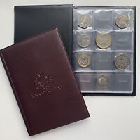 COIN ALBUM for 96 coins perfect for 50p £1 £2 COINS FOLDER BOOK COLLECTOR.