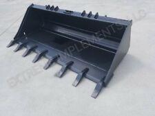 "72"" Extreme Skid loader Tooth Bucket-1"" x 8"" edge-1/2"" steel"