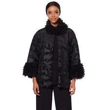 ca03cc5240f N Natori Faux Leather Black Topper With Faux Fur Collar Cuffs Plus Sz 1x