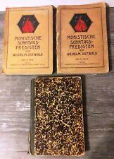 3 Bände aus 1911-13: Monistische Sonntagspredigten von Wilhelm Ostwald