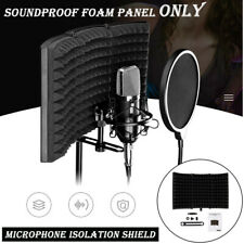 Studio Microphone Isolation Shield Acoustic Screen Soundproof Foam Panel Only