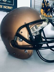 US Navy Midshipmen Football helmet game used worn 1990s many recon labels NCAA