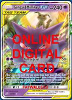 1X Gengar & Mimikyu GX Pokemon Online Card TCG PTCGO Digital Card