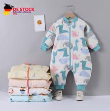 Baby Winter Schlafsack mit Beinen Kinder Strampler Schlafanzug Baumwolle NEU
