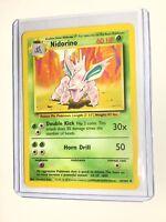 NIDORINO - Base Set - 37/102 - Uncommon - Pokemon Card - Unlimited Edition - NM
