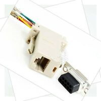 10pcs Extender F/F Female DB9 Female to RJ45 RS232 Female Adapter Connector