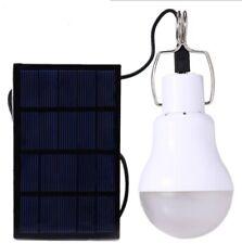 Lampe D'Ampoule LED Alimenté Par Panneau Solaire Lampe D'Énergie Pour Tente hu3