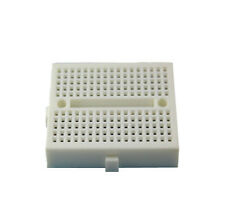 2Pcs 170 Tie-points Mini Solderless Prototype Breadboard for Arduino White