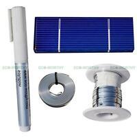 20pcs 78x26mm Poly Solar Cells Kit w/Tab Bus Wire, Flux Pen for DIY Solar Panel