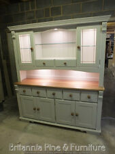 REGENCY PAINTED 6FT 7 DRAWER DISPLAY DRESSER- SOLID OAK TOP- BESPOKE- HAND MADE