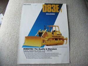 1987 Komatsu D83E-1 bulldozer tractor brochure