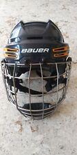 New listing Bauer Reakt 75 Ice Hockey Helmet Combo Blue Dark Yellow Size Medium