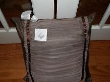NWT Waterford Ballina Mocha Gathered Laced Decorative Bed Pillow 20x20