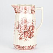 """NEW Antique style Red ornate Pitcher Jug Ornate Edwardian porcelain 20.5cm/8"""""""